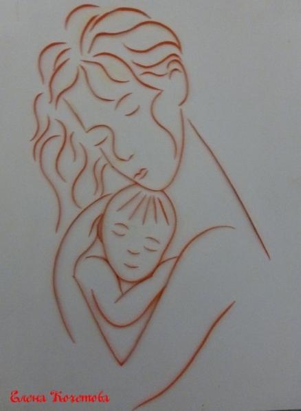 вытынанка мамка равным образом дитя, материнство