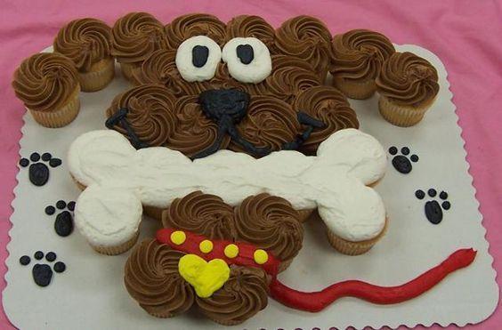 съедобная собака для украшения из кекса