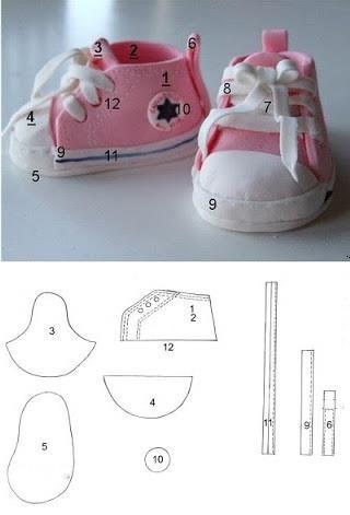 Как сделать кроссовки для мастика 611