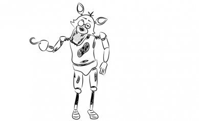 как нарисовать фокси Foxy игра фнаф Five Nights At