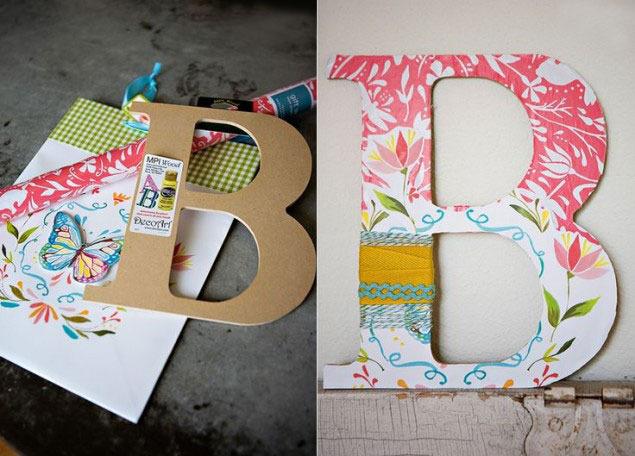 Сделать своими руками объемную букву из бумаги