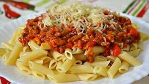 """макароны с """"Болоньезе"""" по испанскому рецепту"""
