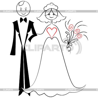 Жених и невеста нарисовать