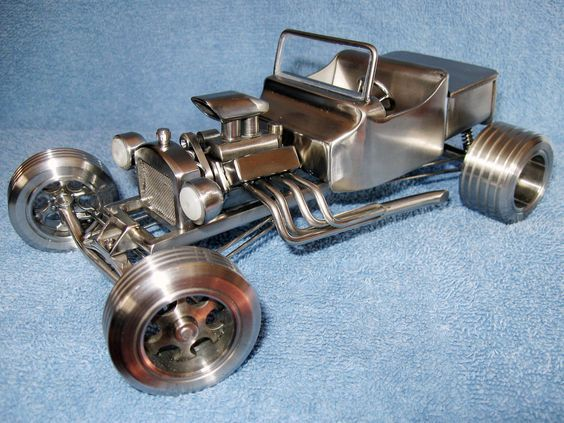 Машинка из металла своими руками 63