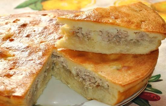 Быстрый пирог с картошкой в духовке рецепт
