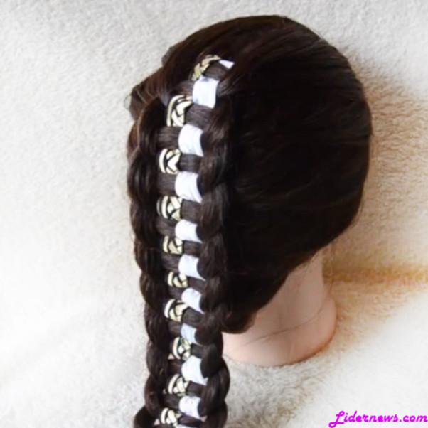 Коса шахматка плетение