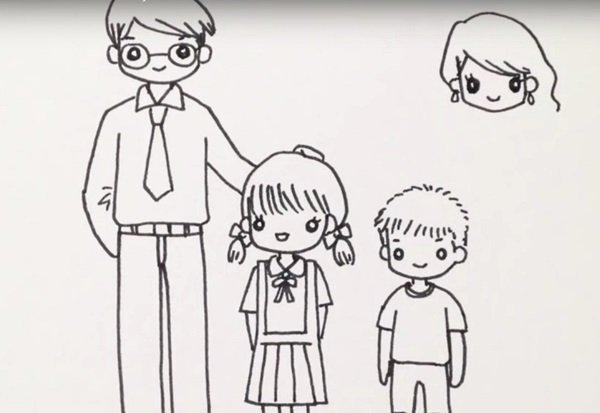 рисунок Моя семья как сделать поэтапно, идеи для рисунков на тему Моя семья, детские рисунки Моя семья