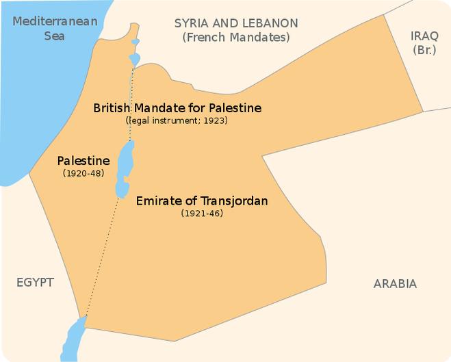 такой по международному законодательсту должна была стать  страна Израиль.