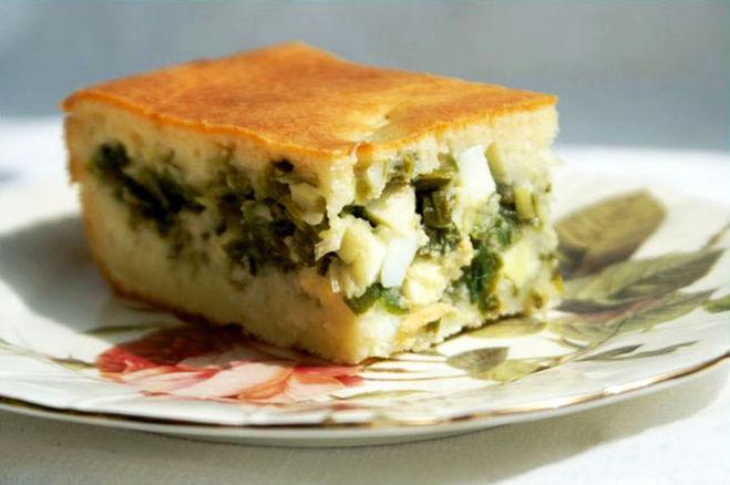 Пирог зеленого лука рецепт с фото