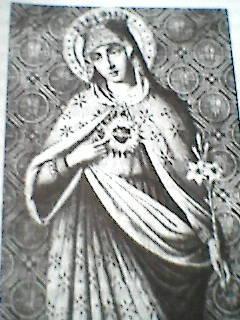 Образ Б.М. Скорбящего Непорочного Сердца. Брюссель, Бельгия, 1911-1943г. Боговидица - Берта Пти.