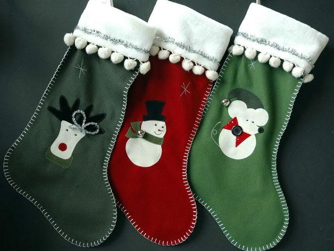 Как сшить носки для нового года на камин