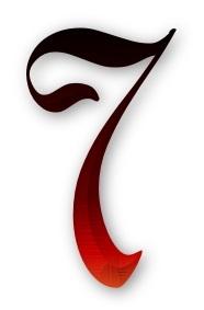 как нарисовать цифру 7 красиво, своими руками