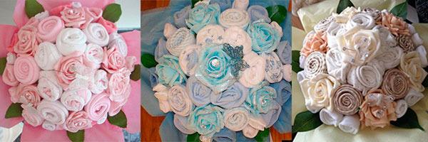 букет роз из полотенец
