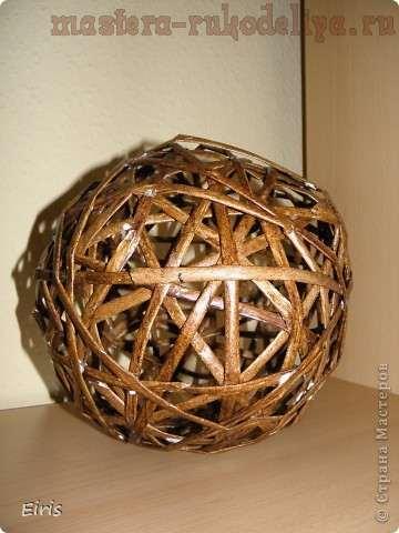 Как сделать плетёный шарик