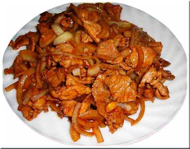 Мясо с луком и морковью рецепт с пошагово