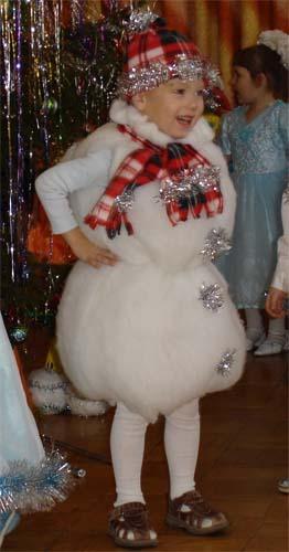 Костюм снеговика для мальчика и девочки