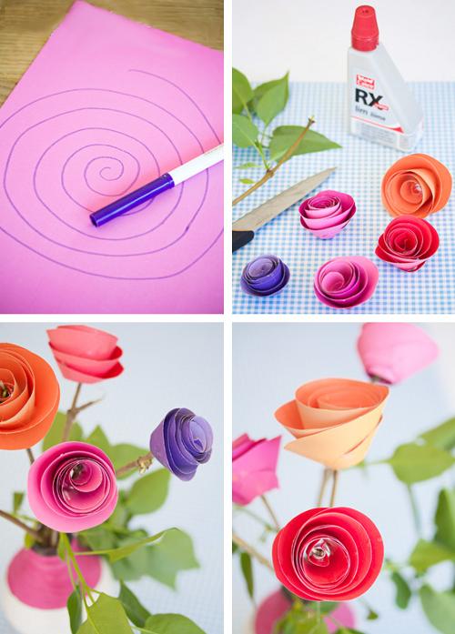 Как сделать объемный цветок схема 944