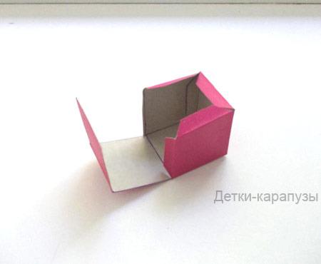 Объёмный куб из бумаги