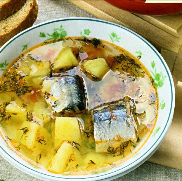Рецепт щей из рыбных консервов
