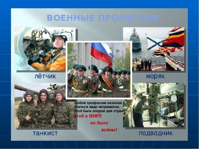 профессии военного