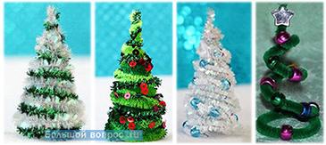 елка с детьми из синельной проволоки своими руками украшение