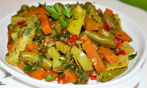 овощное рагу на зиму рецепт с капустой и баклажанами