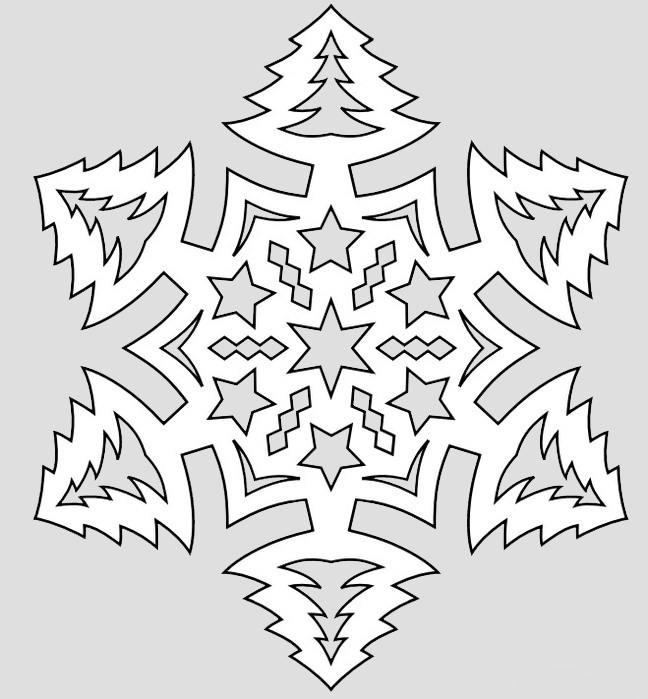 Pictures on request snowflakes vytnankami