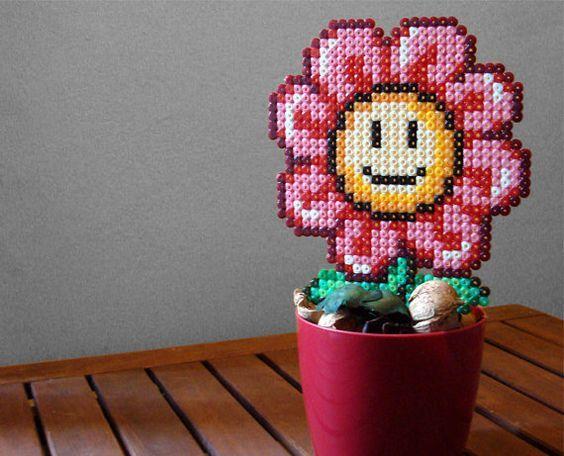 цветок из термомозаики