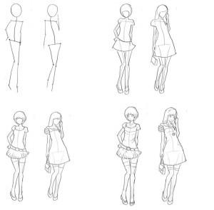 Рисунки девушка со спины карандашом поэтапно