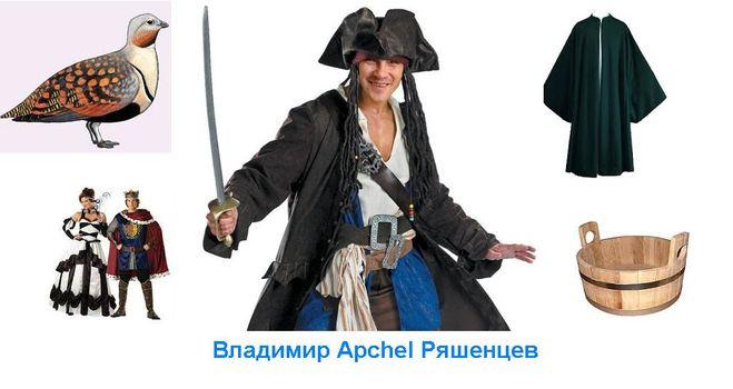 Владимир Апчел Ряшенцев, список слов на Р