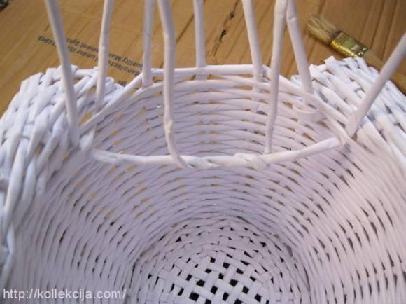 Газетные трубочки плетение лебедя