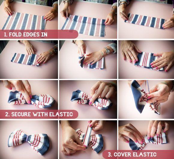 Как сделать бабочку на шею своими руками из ткани