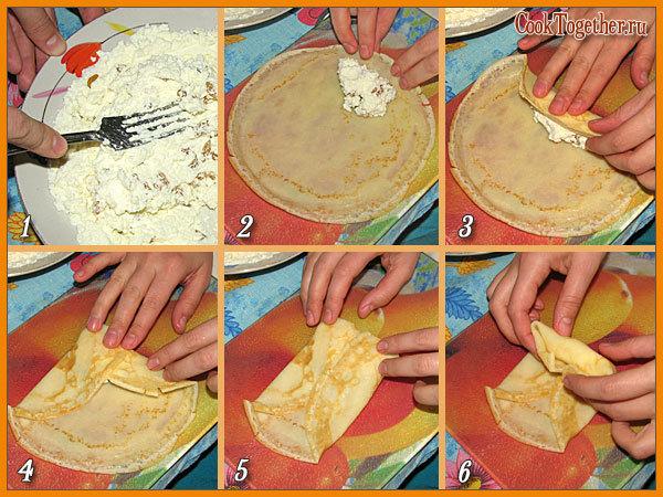 Простые рецепты начинки для блинов с пошагово