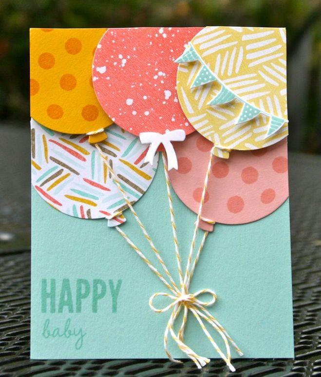 Сделать красивая открытка с днем рождения