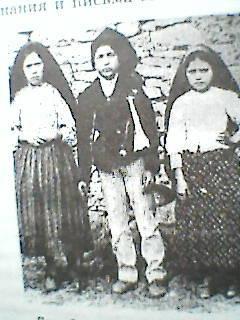 Фатима, Португалия, 1917г. Дети-боговидцы Люсия, Франсишко и Жасинта.