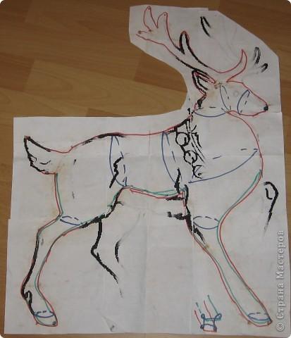 Каркас оленя из проволоки своими руками