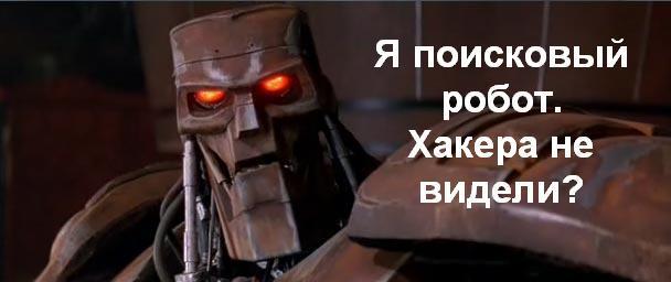 Поисковый робот. Хакера не видели?