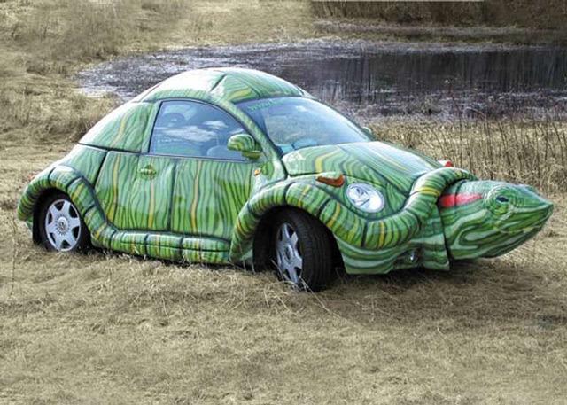 Необычные авто с рисунками