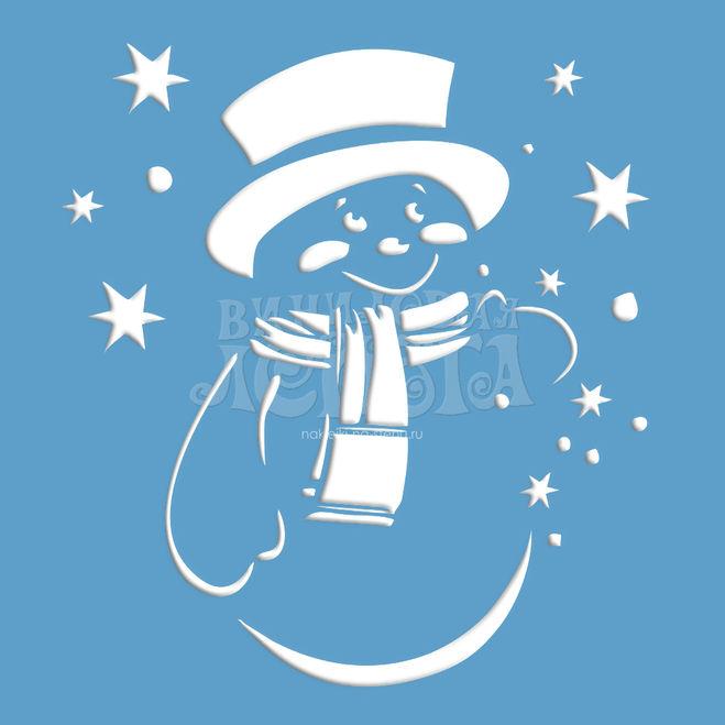 Снеговик на окно к новому году
