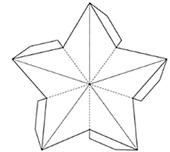 шаблон для объемной звезды для поделки на 9 мая