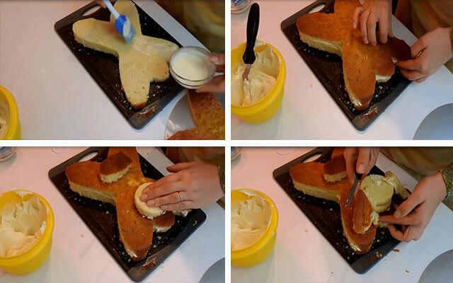 Как сделать торт собаку из крема