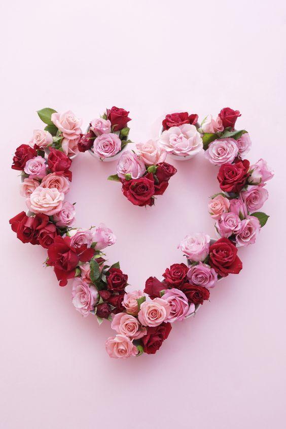 поделка сердце своими руками на день Святого Валентина венок из роз