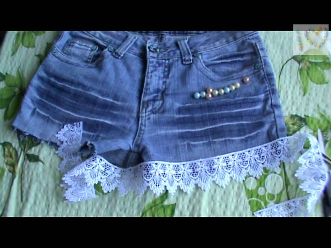 Как сделать джинсовые шорты из юбки своими руками