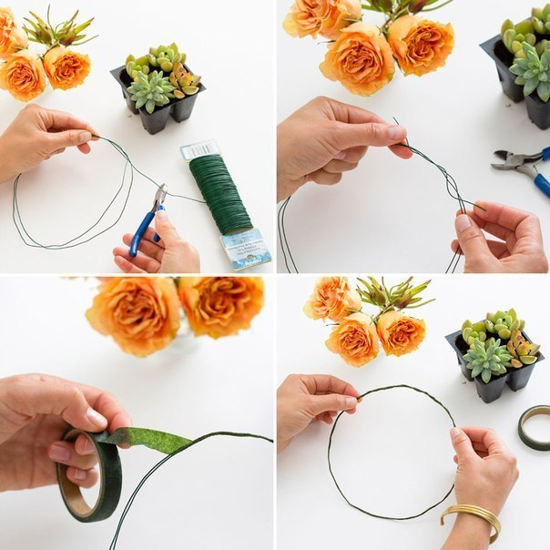 Как сделать из бумаги зелень для цветов