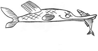 как нарисовать щуку 3