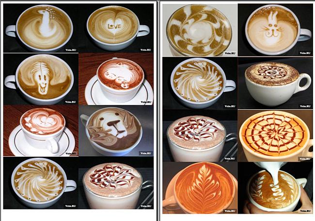 Как на кофе сделать рисунок в домашних 711