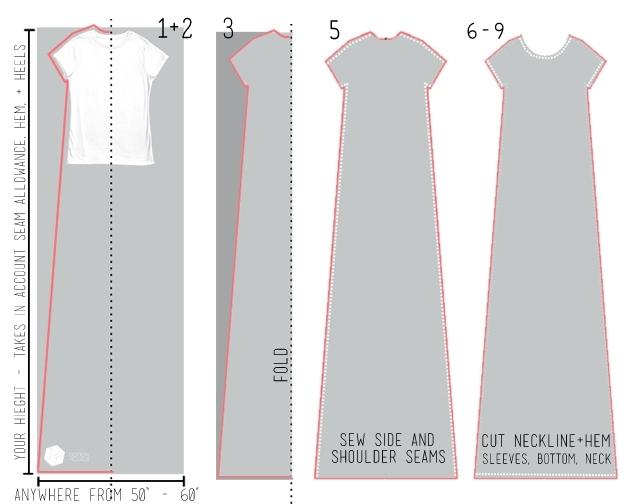 Как быстро сшить платье-футболку?