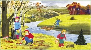 """Как составить рассказ про осень со словами """"осенний лес"""" и ..."""