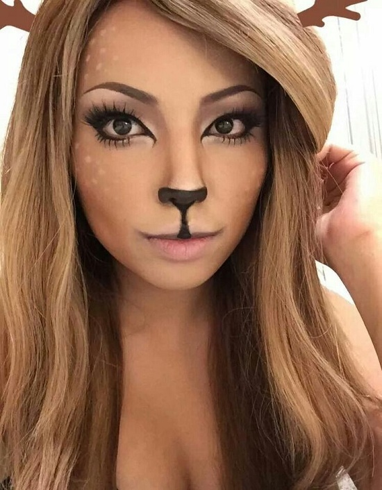 Deer makeup for