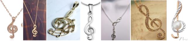 """Кулоны и плжвески """"Скрипичный ключ"""""""